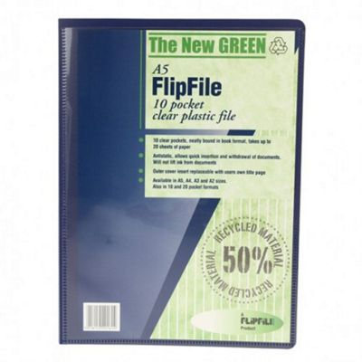Recycled FlipFile - A5 - 10 Pockets