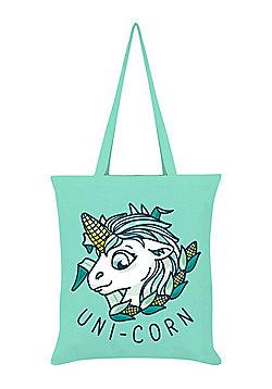 Uni-Corn Tote Bag 38 x 42cm, Mint Green