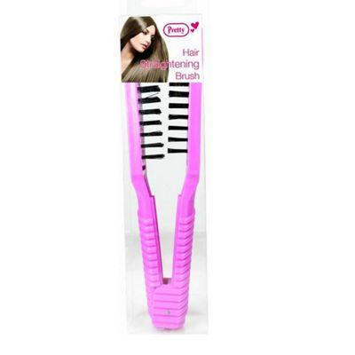 Pretty Pink Hair Straightening Brush Stylist Styling Tool Hairdressing Salon