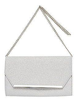 F&F Glitter Envelope Clutch Bag