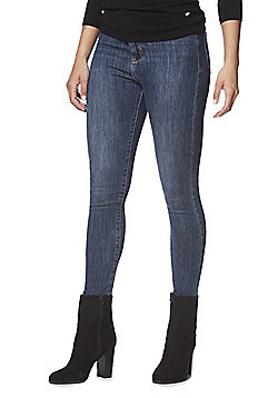 F&F Super High Rise 4 Way Stretch Skinny Jeans - Dark wash
