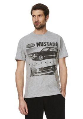 Ford Mustang Print T-Shirt Grey 2XL