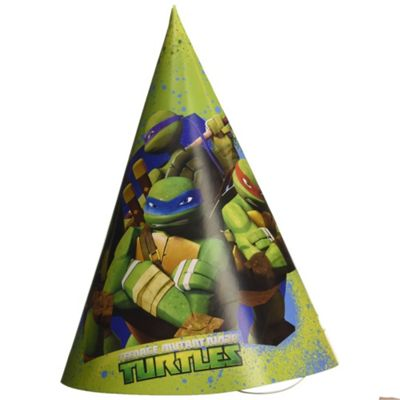 Teenage Mutant Ninja Turtles 6 PK Party Hats Card Accessories