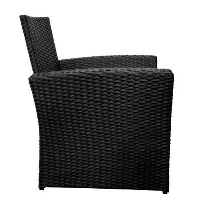 billyoh black chatsworth 4 seater sofa rattan garden furniture set