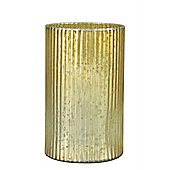 Antique Gold Glass Lustre Candle Holder