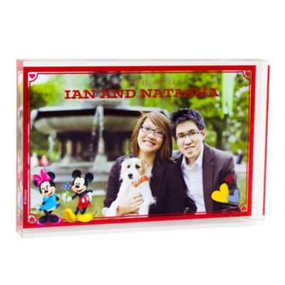 Mickey and Minnie Mouse Personalised Couples Photo Block