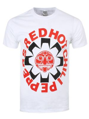 Red Hot Chili Peppers Aztec White Men's T-shirt