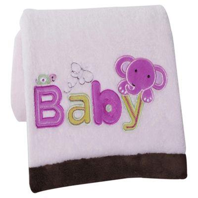 Kidsline Pink Baby Embroidered Blanket