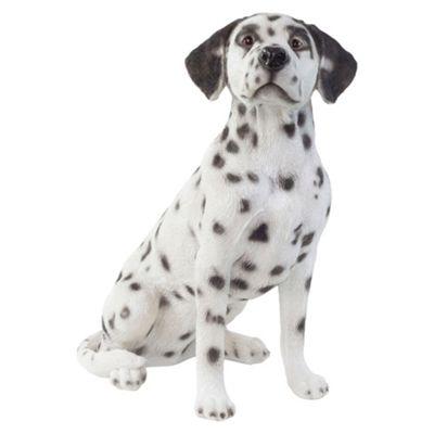 Large Realistic 50cm Sitting Dalmatian Dog Statue Garden Ornament