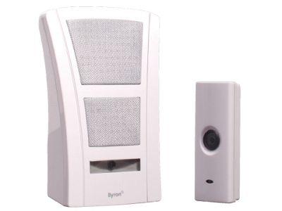 Byron Sx1I Cordless Portable Doorchime White 100M