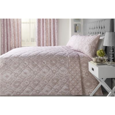 Dreams n Drapes Alford Blush Bedspread - 230x195cm