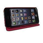 time2 Leather Phone Flip Case Cover - iPhone 5 / 5S / SE - Red
