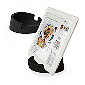 Bosign iPad or Tablet Heavyduty Stand in Black Silicon for Reading or Working Ø11.4xH4.5cm