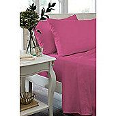 Catherine Lansfield Caramel Flat Sheet - - Pink