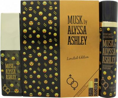 Alyssa Ashley Musk Limited Edition Gift Set 50ml EDP + 100ml Deodorant Spray For Women