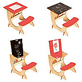 Little Helper 3 In 1 Wooden Artstation Infant Desk In Maple/Red
