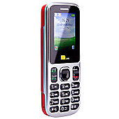 TTsims Dual Sim TT130 Mobile Phone with Camera and Bluetooth - Red