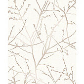 Superfresco Easy Innocence Paste The Wall Branch Stone Metallic Wallpaper