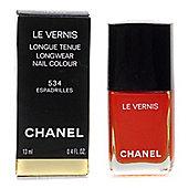 Chanel Le Vernis Orange Red Nail Polish 534 Espadrilles