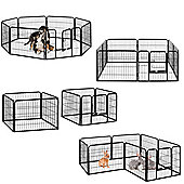 Milo & Misty Heavy Duty Playpen. 8 Panel Folding & Portable Outdoor Cage 80x60cm