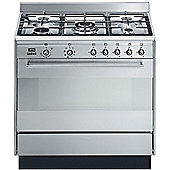 Smeg Concert SUK91MFX9 Stainless Steel Single Oven Dual Fuel 90cm Range Cooker
