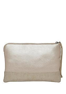 F&F Wrist Strap Metallic Clutch Bag