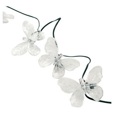 Tesco Butterflies string solar lights 20 pck