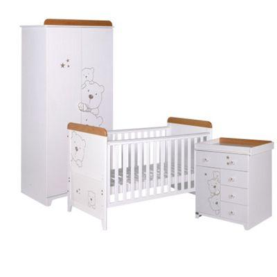 Tutti Bambini Bears 3 Piece Room Set - White