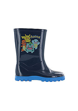 Pokemon Medlock Wellies Wellington Boots Blue UK Sizes Child 7 - Adult 1 - Blue