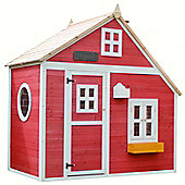 Crooked Mansion Wooden Playhouse 6ft x 4ft Painted Wendy House