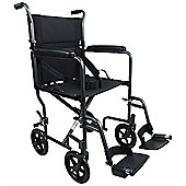 Aidapt Steel Compact Transport Wheelchair in Hammered Effect