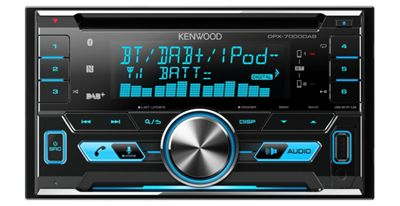 Kenwood Car Stereo-CD Receiver│2DIN│DAB+│MP3│Radio-RDS│CD│USB│iPod-iPhone-Android│DPX-7000DAB