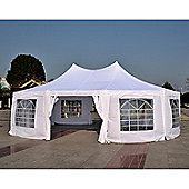Outsunny 10 Sides Decagonal Gazebo Marquee Wedding Tent (8.9m x 6.5m) - White