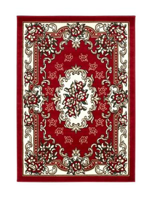 Oriental Carpets & Rugs Tabriz Red Traditional Rug - 80 cm x 140 cm (2 ft 7 in x 4 ft 7 in)