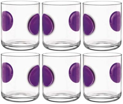 Bormioli Rocco Giove Water Tumbler Glasses - Set Of 6 - Purple - 310ml
