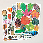Nature Craft Paper Pack for Children/Adults to Decorate and Embellish Multicultural Collage Scrapbooking Art Projects (Pack of 854)