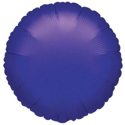 Purple Round Foil Balloon - 18 inch Foil
