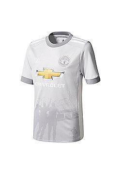 adidas Manchester United 2017/18 Kids Third Jersey Shirt Grey - Grey