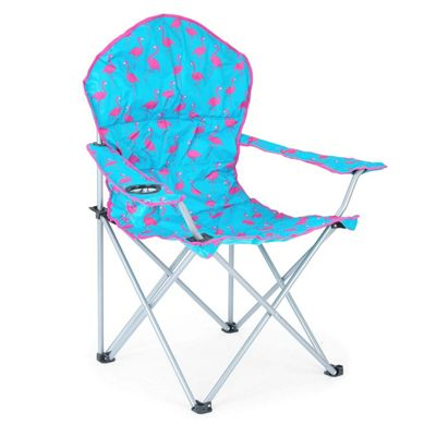 Trail Deluxe Funky Folding Festival Chairs - Blue Flamingo