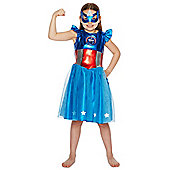 Marvel Captain America Dress-Up Costume - Blue & Red