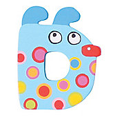 Tatiri Crazy Animals Letter D (Blue Dog)