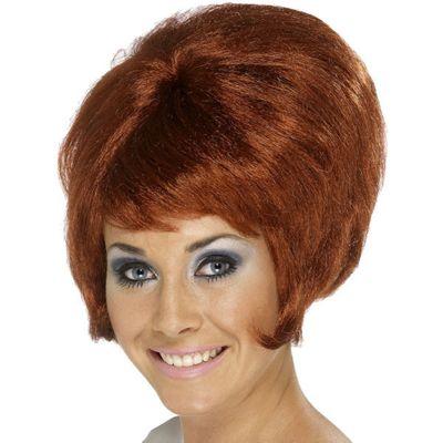 Smiffy's - 60's Beehive Wig - Auburn
