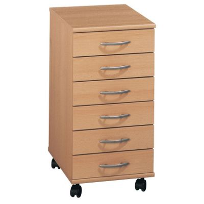 Maja Boston Beech 6 Drawer Pedestal