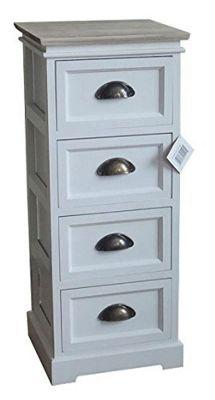 Amore 4-Tier Storage Cabinet - White