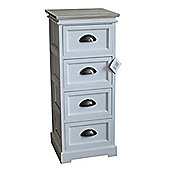 Amore 4-Tier Storage Cabinet - White