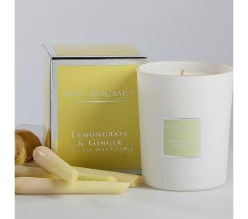 Max Benjamin candle, lemongrass and ginger