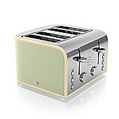 Swan Retro 4 Slice Toaster - Sage Green