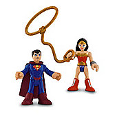 Fisher Price Imaginext DC Super Friends Figures Superman And Wonder Woman