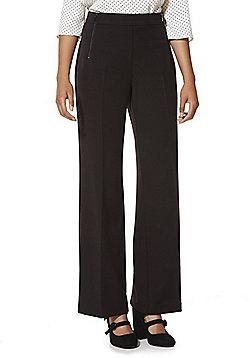 F&F Zip Detail Wide Leg Trousers - Black