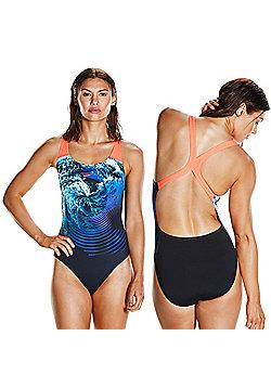 Speedo StormFlow Digital Powerback Womens Swimsuit / Costume - Multi